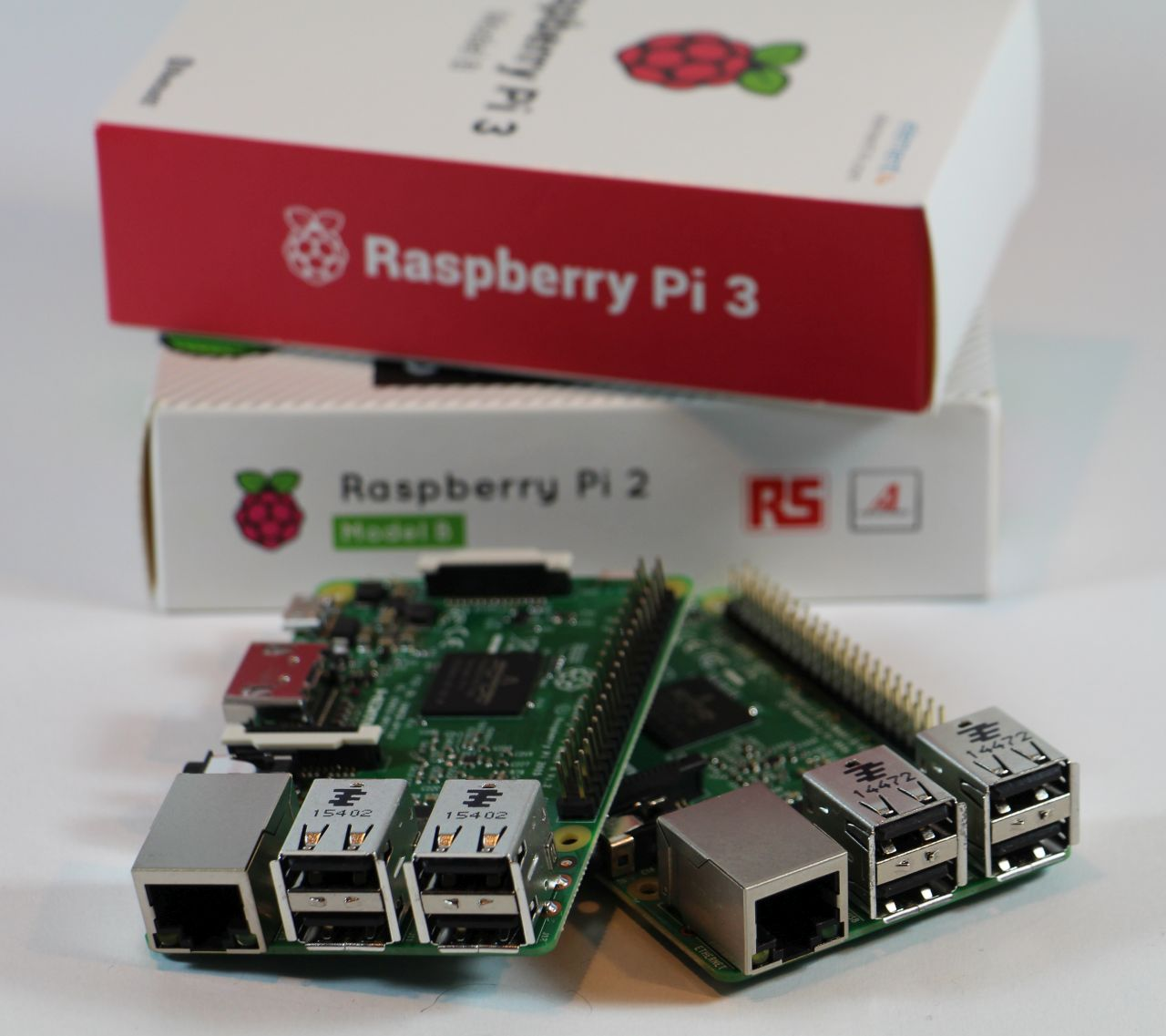 Raspberry Pi 3 and 2 boards