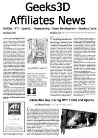 Geeks3D Affiliates News