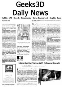 Geeks3D Daily 3D News