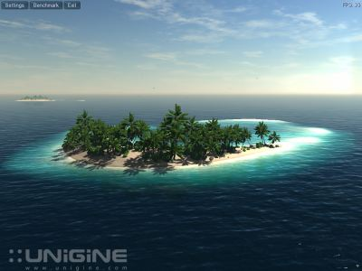 Unigine Tropic Tech Demo and Benchmark in OpenGL and