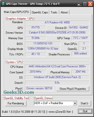 GPU Caps Viewer Catalyst 8.11