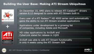 Catalyst 8.12 + ATI Stream