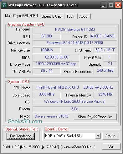 GPU Caps Viewer 1.6.2