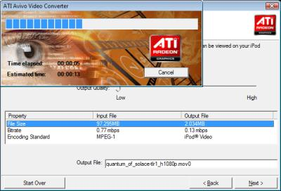 ATI Avivo GPU Transcoder