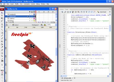 FreeSpin3D example