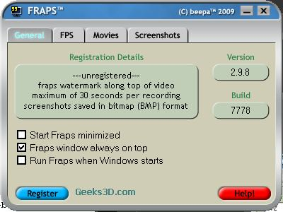 Fraps 2.9.8