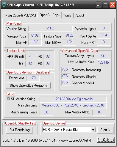GPU Caps Viewer and ForceWare 181.22