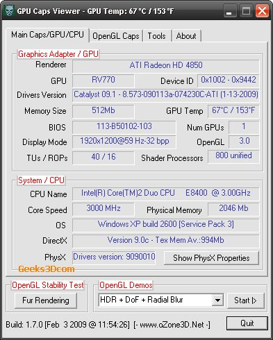 Catalyst 9.1 + GPU Caps Viewer