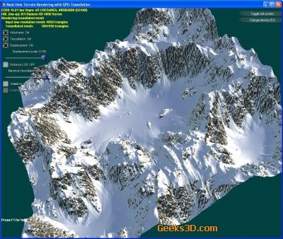 Terrain tesselation on GPU