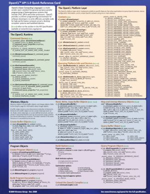 OpenCL Quick Reference Card