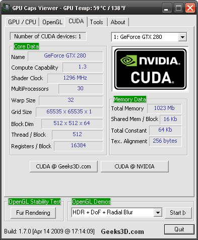 NVIDIA ForceWare 190.15 + GPU Caps Viewer