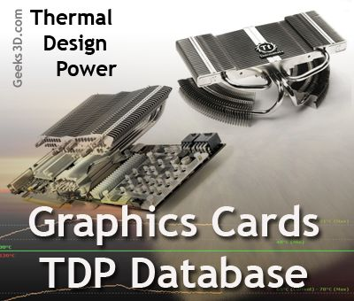 Graphics cards - Thermal Design Power (TDP) Database