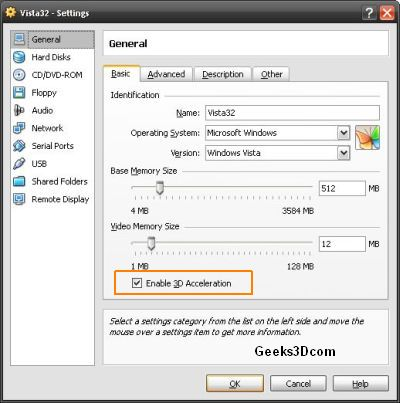 VirtualBox 2.2.4 - 3D Acceleration