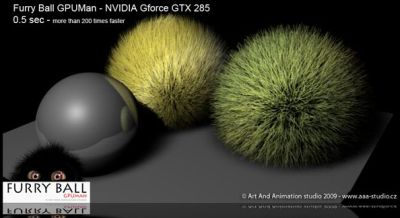 Furry Ball: GPU Renderer for Maya