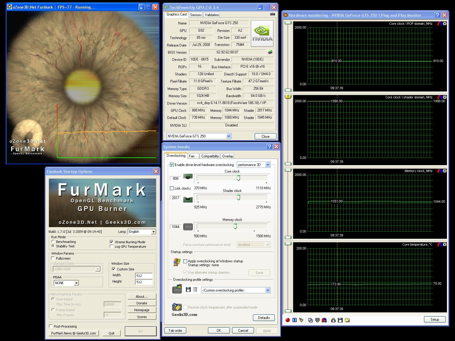 GeForce GTS 250 Overclocking Tutorial