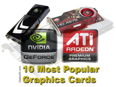 10 Most Popular Graphics Cards July 2009