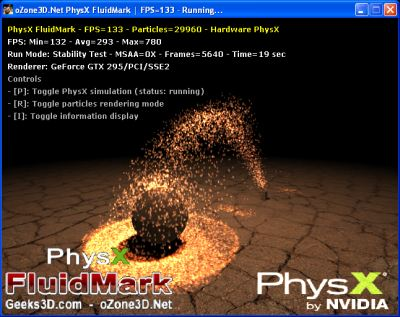 PhysX FluidMark - SPH disabled