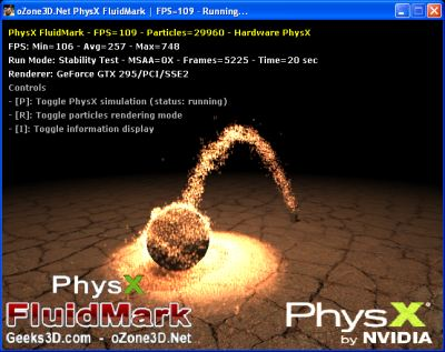 PhysX FluidMark - SPH enabled