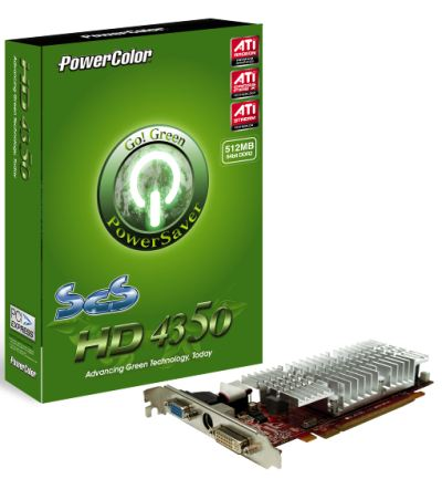 Powercolor Go Green Series New Graphics Cards - Radeon HD 4350