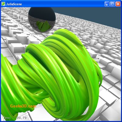 NVIDIA OptiX demo: Fractal - Julia Set