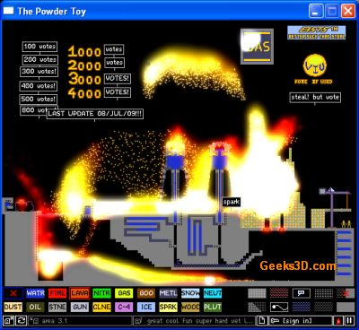 Powder Toy Physic Simulator