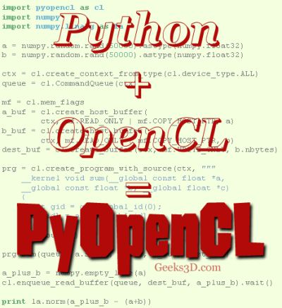 PyOpenCL: Python wrapper for OpenCL