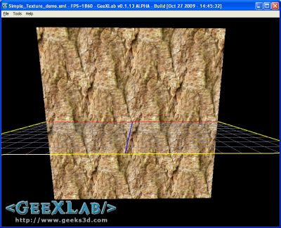 Texture displayed in GeeXLab