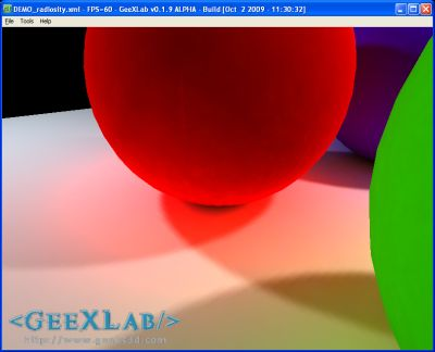 GeeXLab - Backed Spheres demo