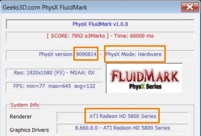 ATI Radeon HD 5870 + PhysX patch