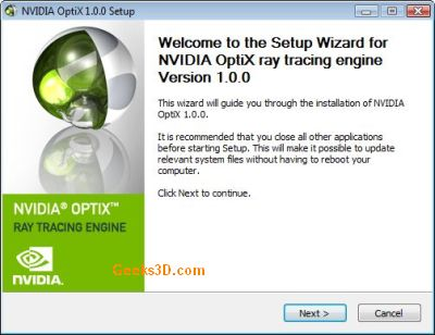 NVIDIA OptiX SDK