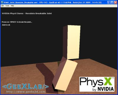 GeeXLab PhysX demo