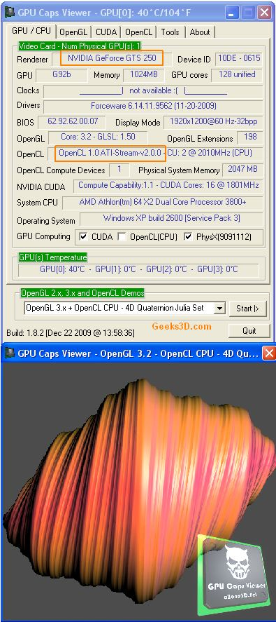 AMD OpenCL CPU on NVIDIA system