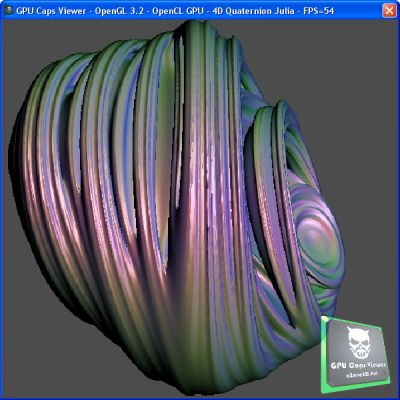 GPU Caps Viewer 1.8.0 + OpenCL GPU Demo - Ray Traced Quaternion Julia Set