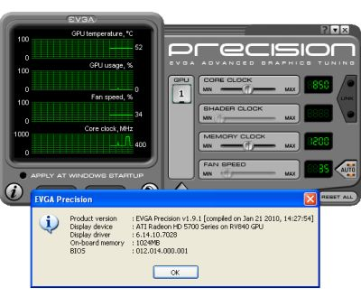 EVGA Precision 1.9.1