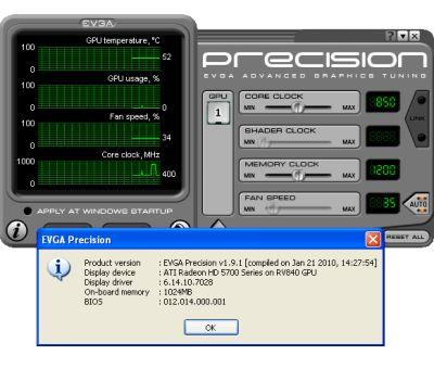 EVGA Precision 1.9.1