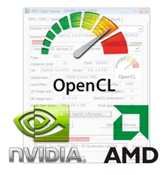 OpenCL - GPU Caps Viewer - NVIDIA - AMD