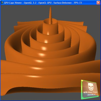 OpenCL Surface Deformer demo