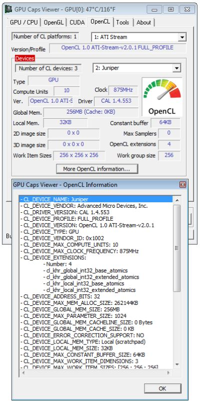 ATI Catalyst 10.2 and OpenCL support