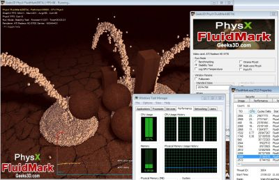 FluidMark - Multi-Core CPU Support in PhysX