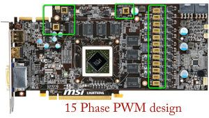 MSI R5870 Lightning - 15-phase PWM