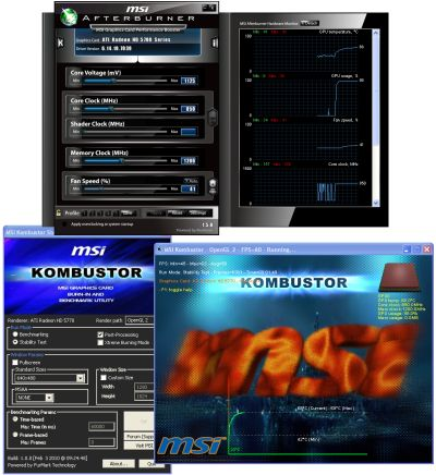 MSI Afterburner 1.5.0 and Kombustor 1.0.0