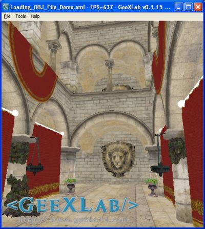 Atrium Sponza Palace Model in GeeXLab