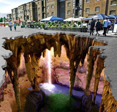 bEAUTIFUL 3D Street Painting