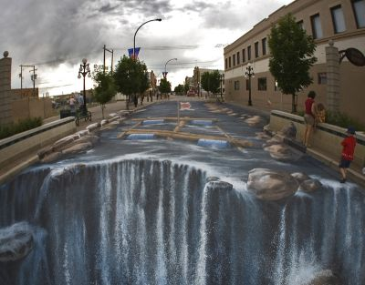 Street Painting: turning street into a river