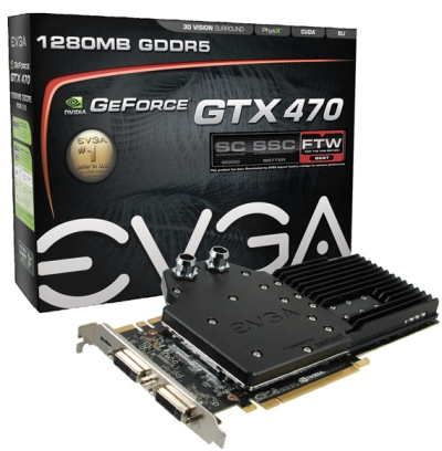 EVGA GeForce GTX 470 Hydro Copper FTW