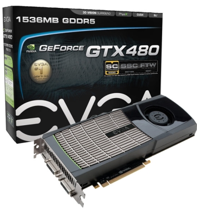 EVGA GeForce GTX 480 Superclocked