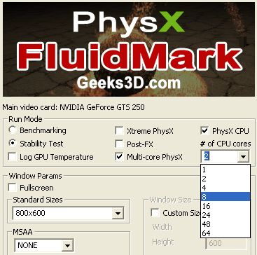 FluidMark - 64-core support