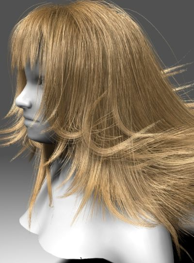 GeForce GTX 480 Direct3D 11 Tessellation - hair rendering