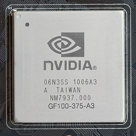 GTX 480 / GF100 chip, die