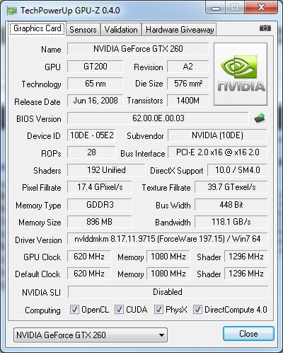 GPU-Z 0.4.0